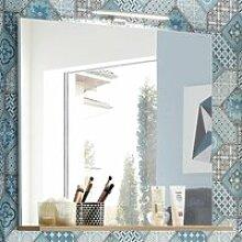 Badezimmer Spiegel mit Ablage und LED-Beleuchtung