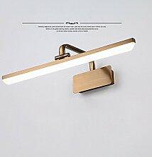 Badezimmer Spiegel Schrank LED Innenbeleuchtung, Wohnzimmer-Kupfer-Legierung plating Modern/Retro wasserdichte Anti-Fog Wandleuchte, weiß,43CM
