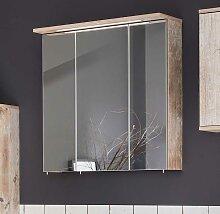 Badezimmer Spiegelschrank im Dekor Eiche Grau LED