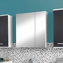 Badezimmer Spiegelschrank in Weiß 60 cm breit