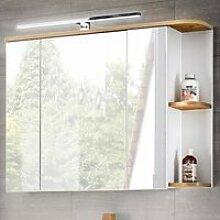 Badezimmer Spiegelschrank mit LED, CAMPOS-56 weiß
