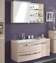 Badezimmer Spiegelschrank & Waschplatz Set Pinie