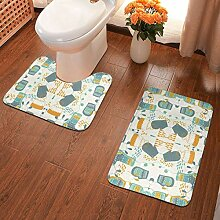 Badezimmer Teppiche 2 Stück Anti-Rutsch-Pads