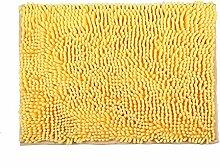 Badezimmer Toilette rutschfeste Matten saugfähige Matten Türmatten (gelb, 350 * 500mm)