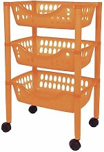 Badezimmer Trolley / Badezimmer Rollwagen Kunststoff in verschiedenen Farben (orange)