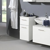Badezimmer-Unterschrank zum Aufhängen Weiß Hochglanz