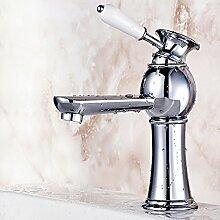 Badezimmer Voll Kupfer Küchenarmatur Mit Warmen Und Kalten Wasserhähne Loch Becken