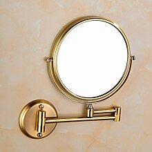 Badezimmer Wand Kosmetikspiegel Schminkspiegel Doppelseitig Klappspiegel 360 Grad Drehbar Skalierbar Lupe Leicht Zu Installieren Bronze,6inch