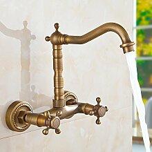 Badezimmer Waschbecken antik Messing Armaturen mit
