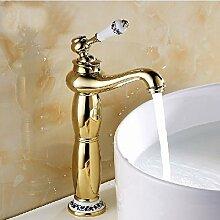 Badezimmer Waschbecken Armatur gold Finish Messing
