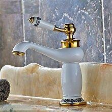 Badezimmer Waschbecken Armatur Wasserhahn Bad Armatur Küchenarmatur Gold Blau-Weiß Porzellan Hahn Alle Bronze Vintage, G
