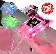 Badezimmer Waschbecken Armaturen mit Farbwechsel