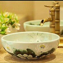 Badezimmer-Waschbecken Retro Creative Jingdezhen