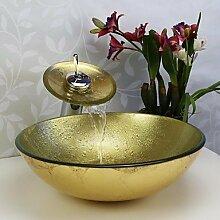 Badezimmer Waschbecken Sets, Glaswaschbecken,