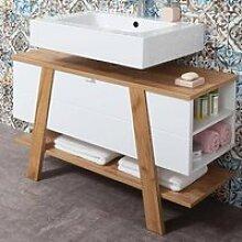 Badezimmer Waschbecken-Unterschrank SOPOT-01 in