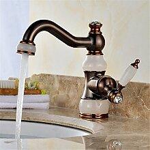 Badezimmer Wasserhahn Messing schwarz Messing
