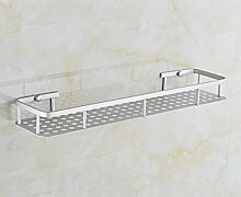 Badezimmer WC Single Shelf Metall Badezimmer Regal Wände Hanging Space Aluminium Badezimmer Lagerung Edelstahl, 32cm