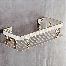 Badezimmer weißes Regal Dusche Eckregal