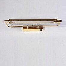 Badezimmerbeleuchtung LED Spiegel Scheinwerfer, Badezimmer Spiegel Schrank Lichter Spiegel Leuchten Kleider Tischlampe Retro Badezimmer Licht ( Farbe : Gold-8w65cm )