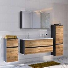 Badezimmermöbel Set in Wildeichefarben und