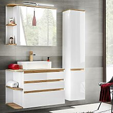 Badezimmermöbel Set mit Keramik-Waschtisch
