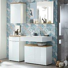 Badezimmermöbel Set mit weißer Glasfront