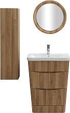 Badezimmermöbel und Säule Holz mit Waschbecken,