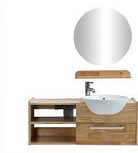 Badezimmermöbel: Waschbecken mit Waschkommode,