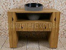 Badezimmerschrank Agung Cabinet Waschbeckenunterschrank 111x62x85 cm.