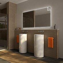 Badezimmerspiegel beleuchtet mit Motiv Sheets - B 1600mm x H 800mm - neutralweiss
