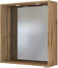 Badezimmerspiegel im Wildeiche Dekor LED