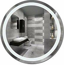 Badezimmerspiegel LED, Rahmenlos Rund Wasserdicht