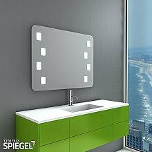Badezimmerspiegel LED Wandspiegel mit Beleuchtung MIDAS 65 x 85 cm