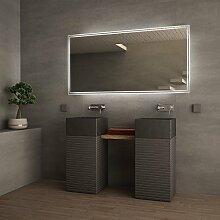 Badezimmerspiegel mit Beleuchtung Santani - B 600mm x H 400mm - warmweiss