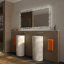 Badezimmerspiegel mit Licht Rosenmeer - B 1200mm x H 700mm - neutralweiss
