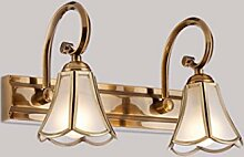 Badezimmerspiegel Spiegel lampe led Lampen LisaFeng Kupfer Spiegelschrank Beleuchtung, 32 cm