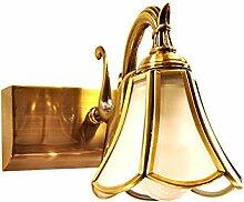 Badezimmerspiegel Spiegel lampe led Lampen LisaFeng Kupfer Spiegelschrank Beleuchtung, 16 cm