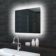 Badezimmerspiegel Wandspiegel Lichtspiegel LED Beleuchtung 140x70cm MLE71400