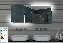 Badezimmerspiegel Wandspiegel Lichtspiegel LED Beleuchtung 120x60 cm ML120
