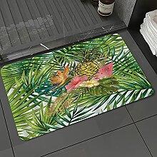 Badezimmerteppich rutschfest Ananas Tropische