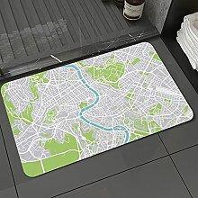 Badezimmerteppich rutschfest Grüne Luftbild