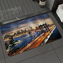 Badezimmerteppich rutschfest Luxus New York