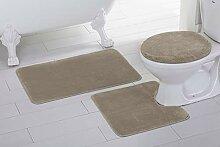Badezimmerteppich-Set mit U-förmigem