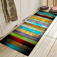 Badezimmerteppich und Fußmatte, bunt, 17 mm dick,