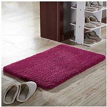 Badezimmertürmatte Teppich, zottelige