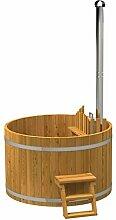 Badezuber aus Holz mit Ofen aus hochwertigem