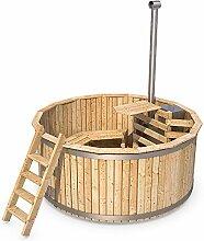Badezuber Badefass Holz Badetonne 190 oder 240 cm