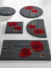 Badgarnitur mit Blüten-Design 1, ca. 45/50 cm