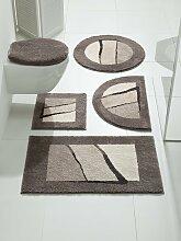 Badgarnitur mit modernen Streifen 1, ca. 45/50 cm