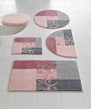 Badgarnitur mit Muster 1, ca. 45/50 cm rosa